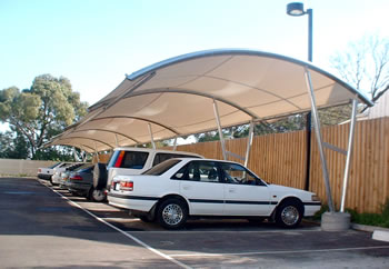 Car Park Shade Barrel Design