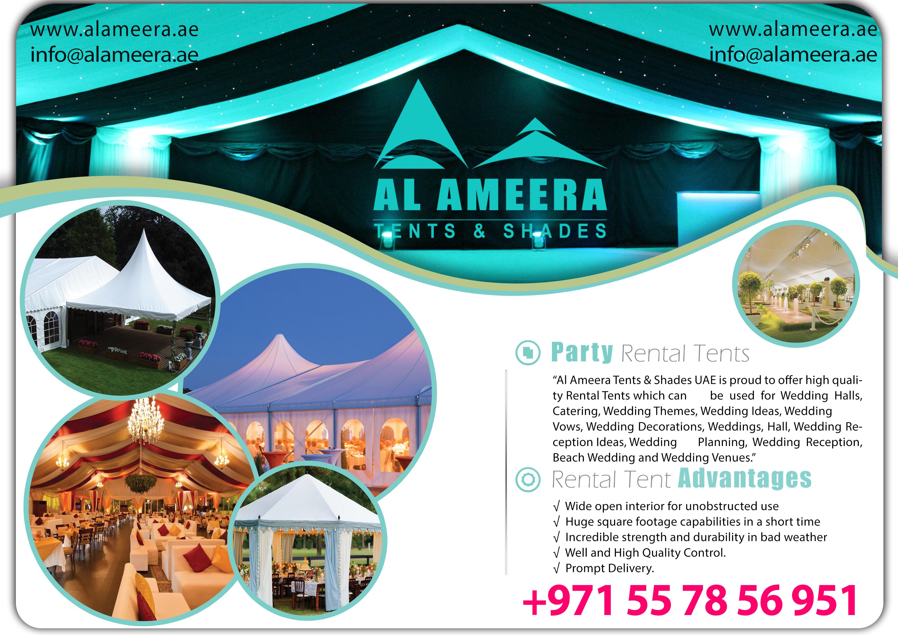 Tent Rental Prices Al Ameera Tents Shades